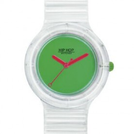 OROLOGIO HIP HOP SEE THROUGH GREEN FLUO
